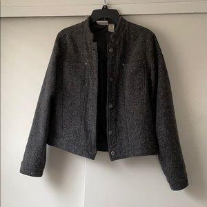 Liz Claiborne grey tweed jacket